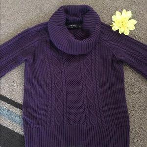 jeanne pierre purple chunky knit sweater small